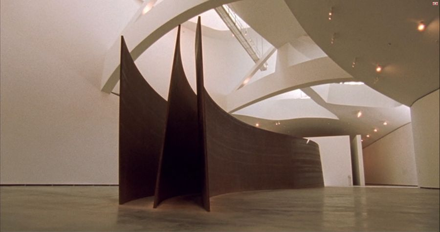 Snake, a work made for the inauguration of the Guggenheim Museum Bilbao by Richard Serra